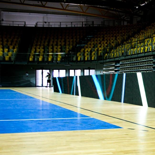 Wyposażenie hali sportowej w Koszalinie