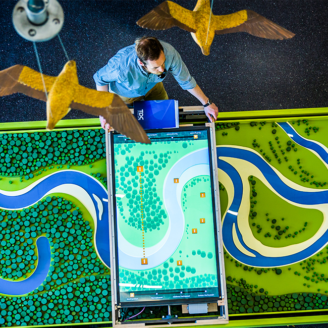 Interaktywna ekspozycja dla Parku Naukowego Haus Der Flüsse