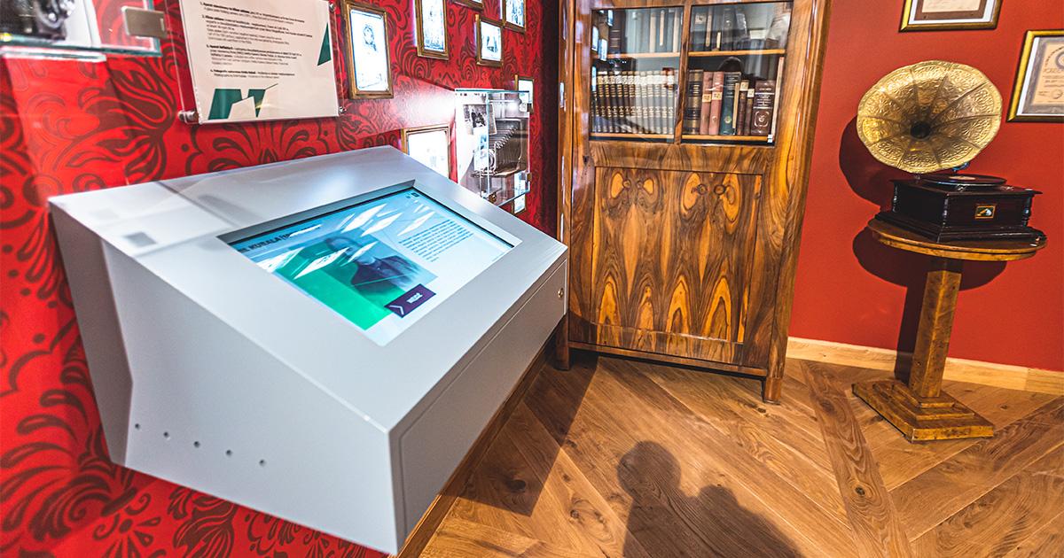 Kiosk multimedialny w Muzeum Niepodległości w Myślenicach