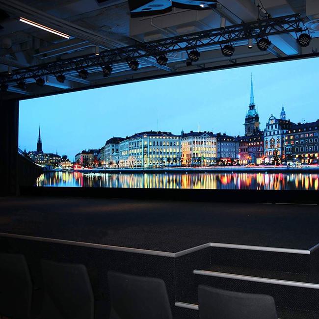 Ściana wideo LED P1.6 dla Hotelu AT SIX, Sztokholm, Szwecja