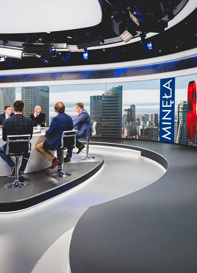 studio telewizyjne ekran led - TDC Polska -