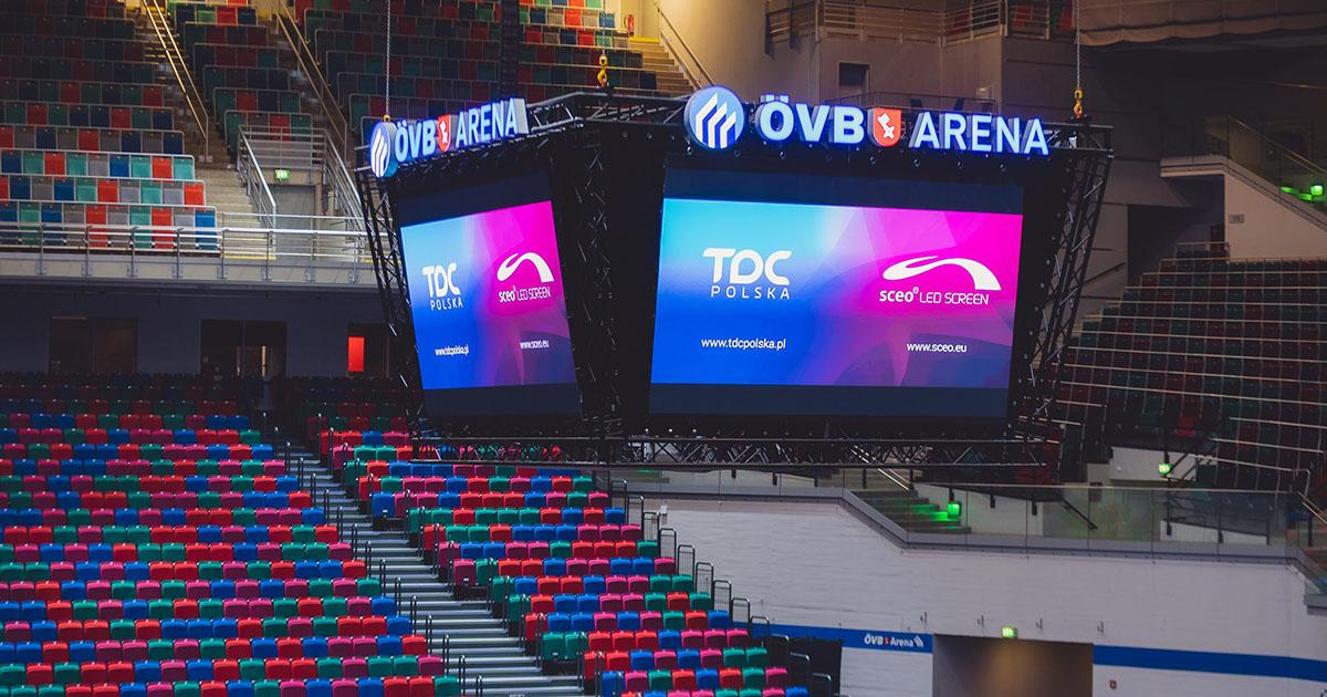 Telebim reklamowy wewnętrzny w ÖVB Arena Bremen   © TDC Polska