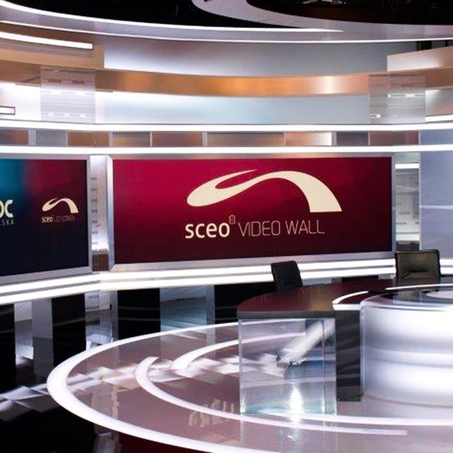 Ściany wideo LED dla Telewizji NOWA TV, Warszawa