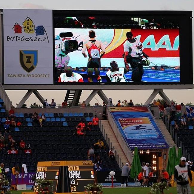 Ekran LED P20 Stadion Zawiszy w Bydgoszczy