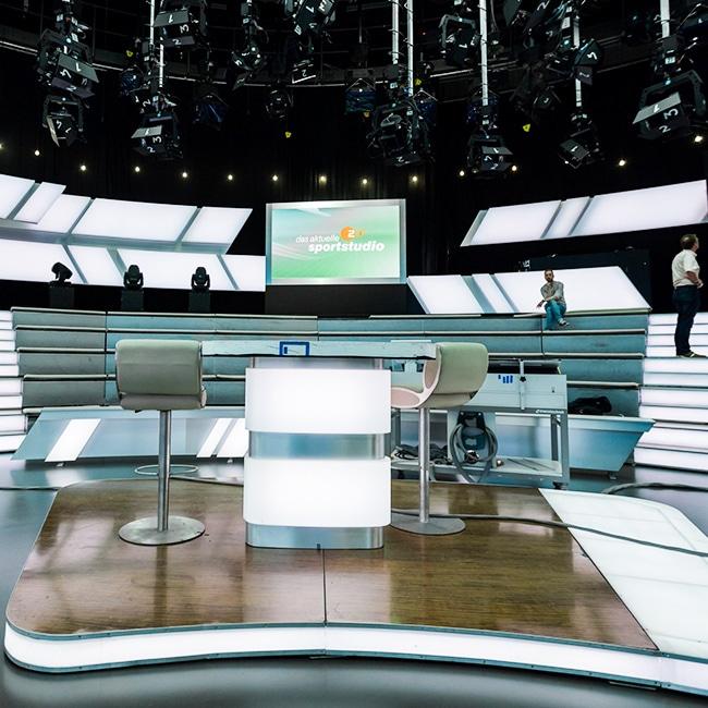 Ekrany LED dla Studia telewizyjnego ZDF, Mainz, Niemcy